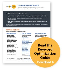 ToTheWeb Read the Keyword Optimization Guide
