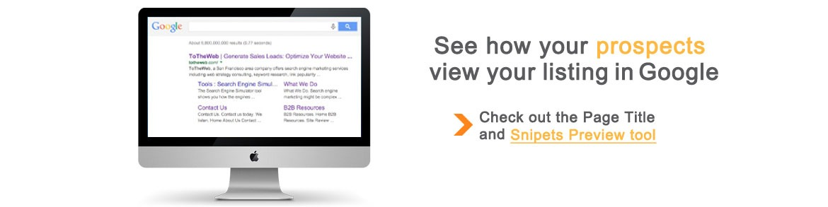 See how your prospects view your Google Listing